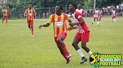 Cornwall College game action between Charlemont - Photo Credit McNamee Photography